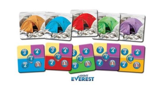 Tokens con campamentos de colores