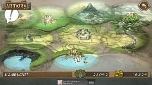 El mapa principal, el reino de Kameloot. Ahora a buscar combates.