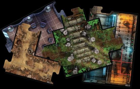 Baldosas para crear el mapa de la misión