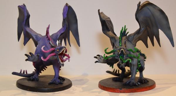 Dos dragones de las sombras.