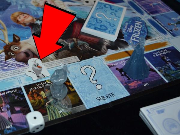El marcador de personaje indica que la casilla es de Olaf.