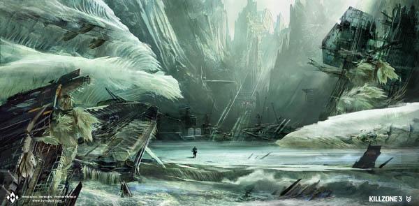killzone3 icewreck concept art
