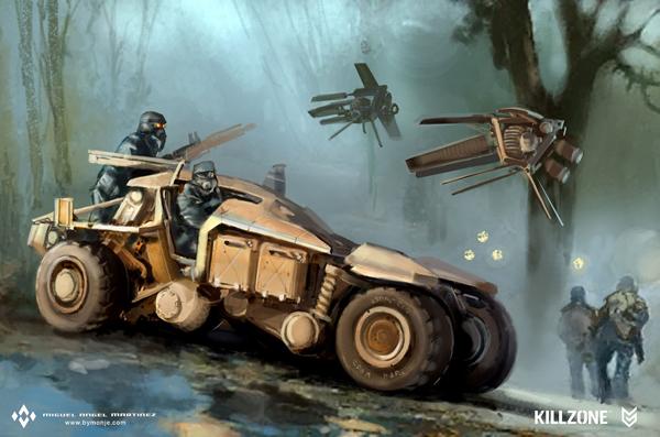 killzone jeep concept art