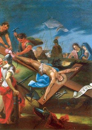 Resultado de imagen de Undécima Estación: JESÚS ES CLAVADO EN LA CRUZ
