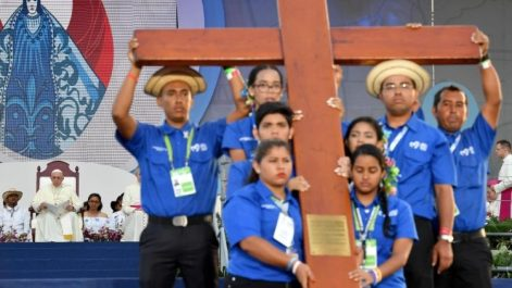 ワールドユースデー大会の十字架 2019年1月 パナマ大会で