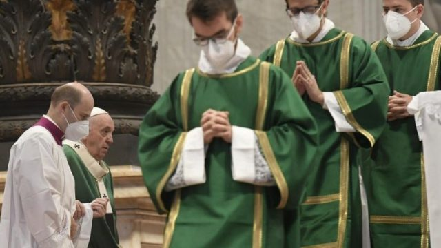 A moment of the Mass to mark the start of. the Synodal process