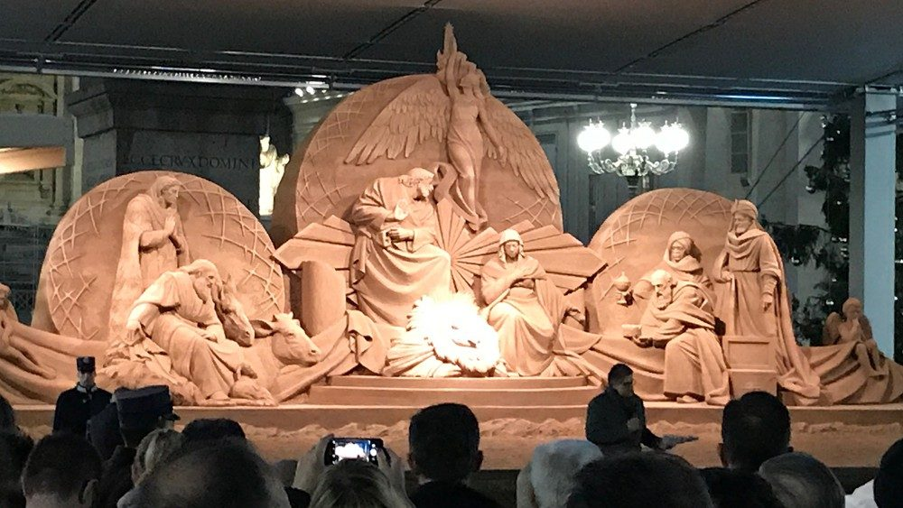 Sand Nativity And Christmas Tree Of St Peters Square
