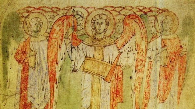 Image of St. Michael the Archangel who protects the Church against evil