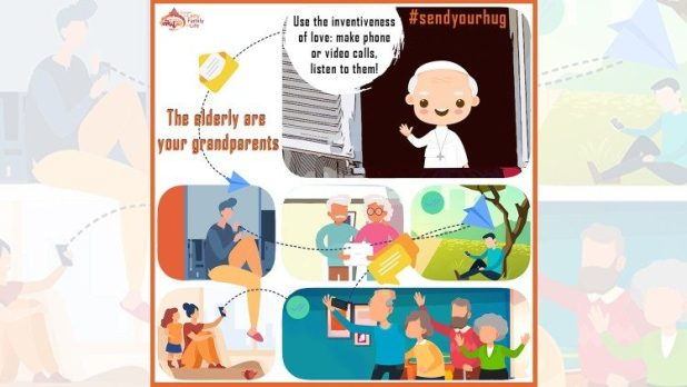 """Flyer for """"The elderly are your grandparents"""" campaign"""