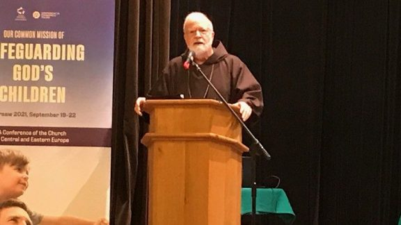 Cardinal Seán Patrick O'Malley speaking during the Safeguarding conference