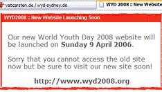 wyd2008.org - neue Website