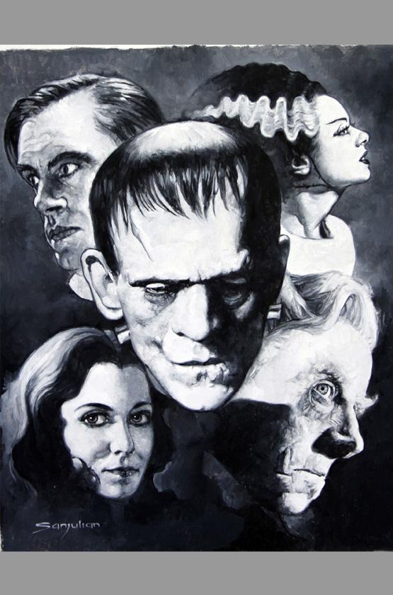 Bride Frankenstein Black And White