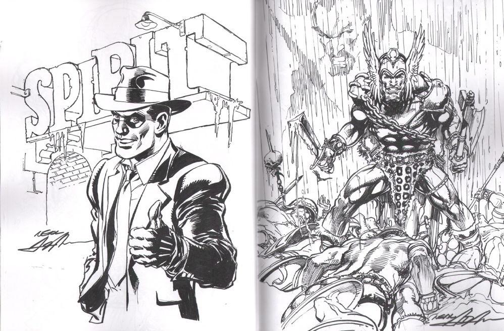 Neal Adams Matching 1 Set Exclusive Sketch Book Amp Print