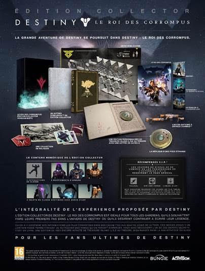Destiny Le Roi des Corrompus Edition Collector