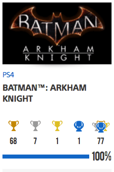 Platine Batman Arkham Knight et DLC 1
