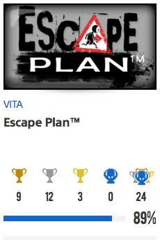 Progessison trophées Escape Plan