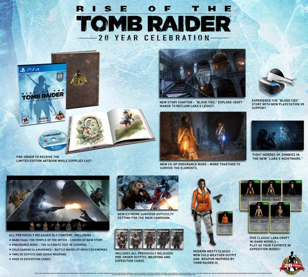 Rise Of The Tomb Raider 20ème anniversaire