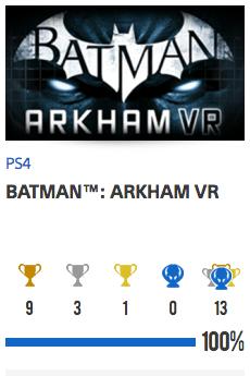 100% Batman Arkham VR