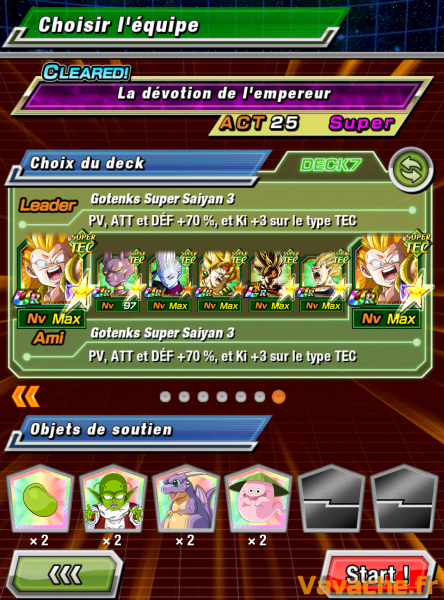 Dokkan Battle suggestion équipe Dokkan Golden Freezer