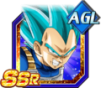 Dokkan Battle SSR Vegeta SSGSS AGI