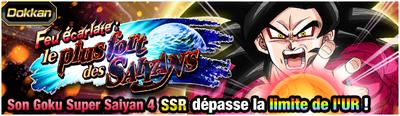 Dragon Ball Z Dokkan Battle Feu écarlate le plus fort de Saiyans