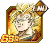 Dokkan Battle SSR Goku SSJ2 Ange END