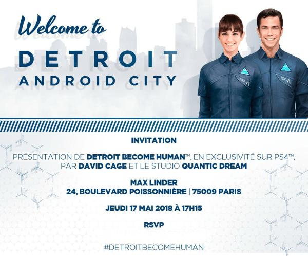 Evènement Detroit Become Human