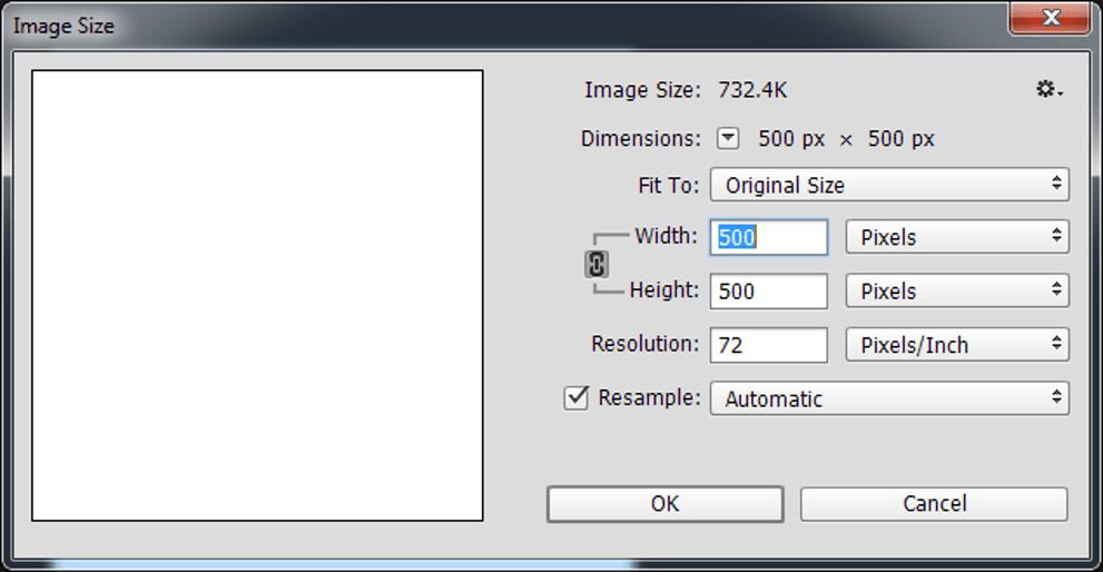 Document Settings of Adobe Photoshop