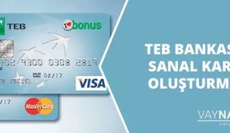 TEB Bankası Sanal Kart Oluşturma 2020