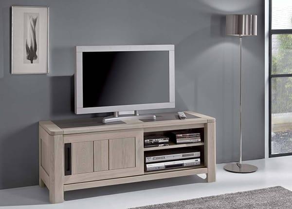 Meuble tv qui se ferme meuble tv design laqu blanc cm kube with