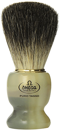 Omega 63171 Stripey Shaving Brush with Stand