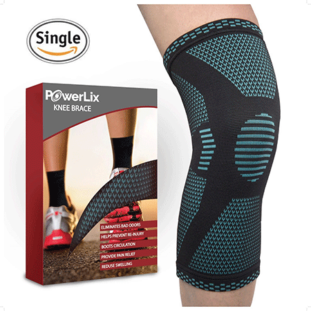 PowerLix Athletics Knee Compression Sleeve Support