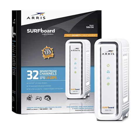 ARRIS SURFboard SB6190 Cable Modem