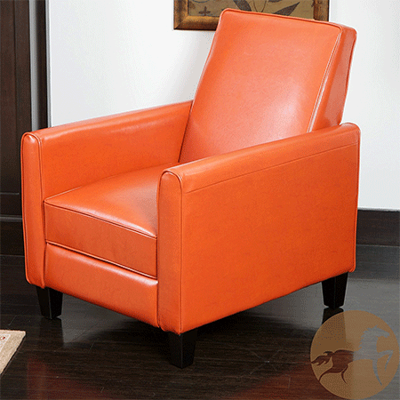 Lucas Orange Leather Modern