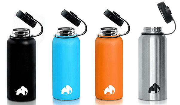 Stainless Steel Water Bottle by Cool Elephant