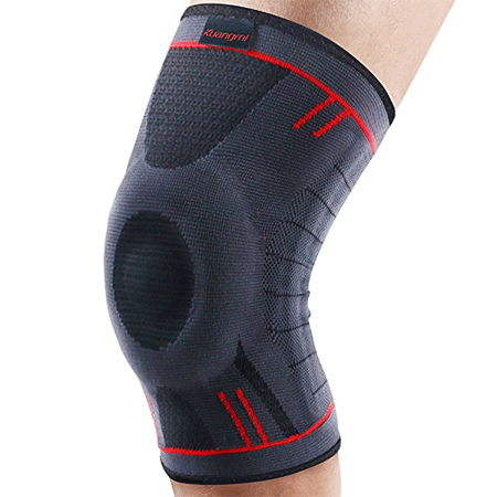 Kuangmi Knee Brace Compression Sleeve Sports Support