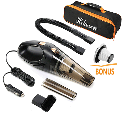 Hikeren handheld wet and dry car vacuum cleaner