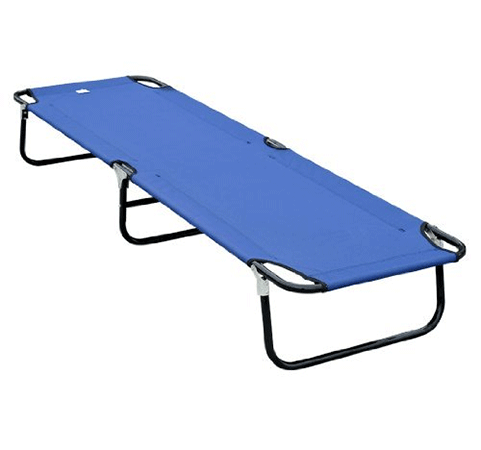 Outsunny Deluxe Folding Military-Style Camping Cot