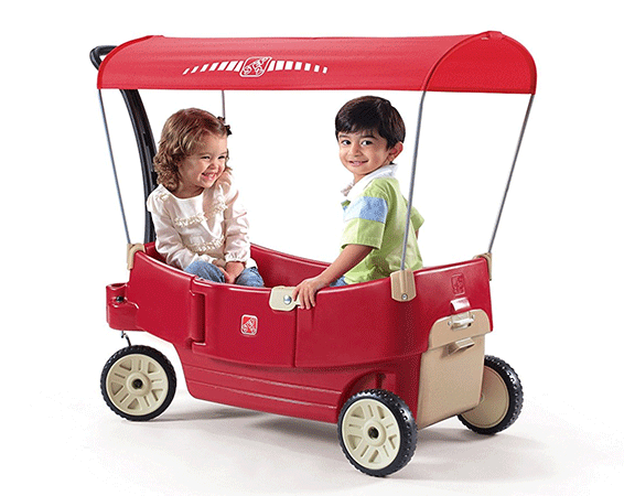 Red Canopy Wagon