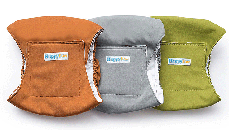 HappyPaw Reusable Washable Dog Belly Bands
