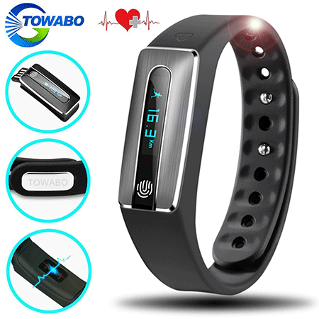 Towabo Fitness Tracker with Heart Rate Monitor
