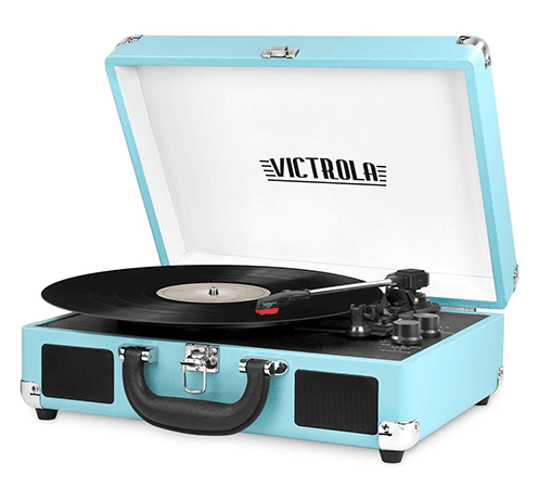 The Suitcase Style Turntable with Built-in Speakers