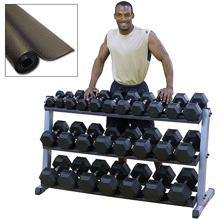 Body Solid Heavy Duty Dumbbell Set With Rack