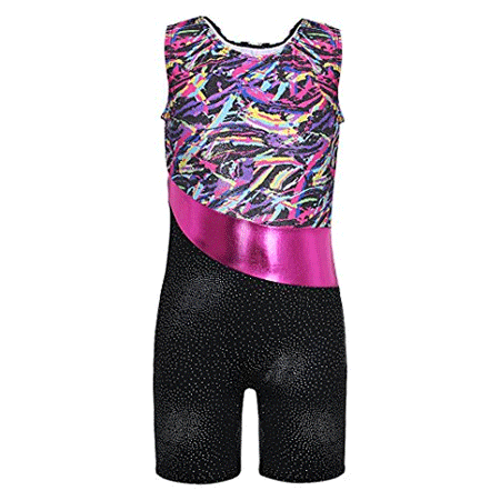DAXIANG Spring Colorful Ribbons Pink Leopard Shiny Gymnastics