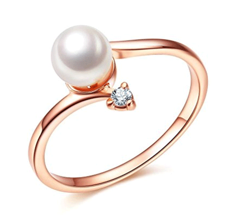 Bella Lotus 18K Rose Gold Purity Ring