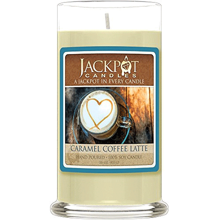 Caramel Coffee Latte Candle with Ring Inside