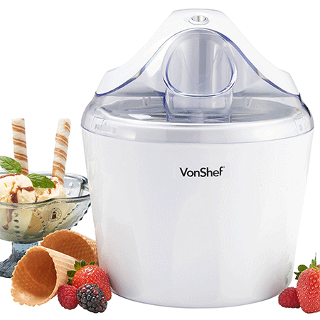 VonShef Ice Cream, Frozen Yogurt and Sorbet Maker Machine