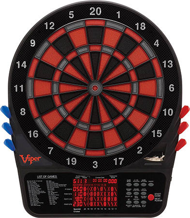 The Viper 800 Electronic Soft Tip Dart Board by GLD Products