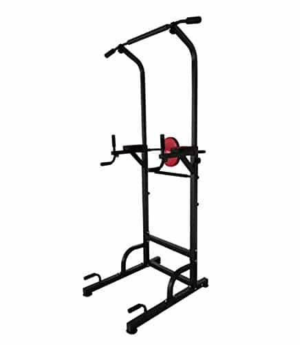 X-Factor Pull Up Power Tower 500 lbs Dip Chin Up Station w 4 Suction Cups Stabler