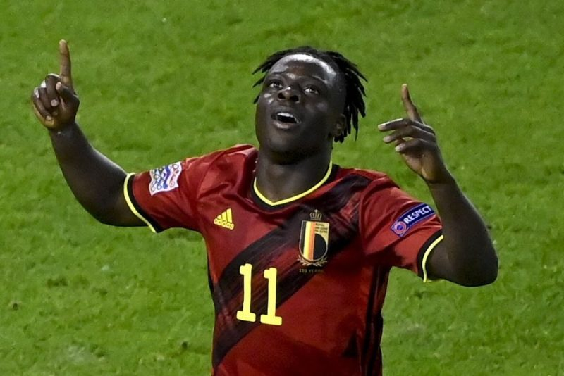 Jeremy Doku opnes the scoring for Belgium